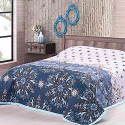 Přehoz na postel Alberica, modrý 160 x 220 cm