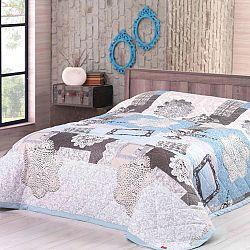 Přehoz na postel LACE tyrkysový 160 x 220 cm