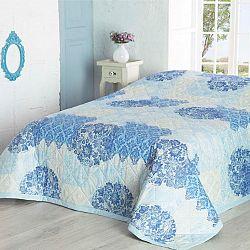 Přehoz na postel OTTORINO tyrkysová 160 x 220 cm