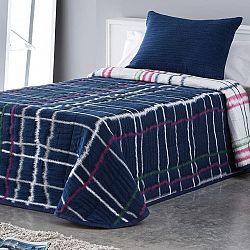 Přehoz přes postel MARA modrý dvojlůžko