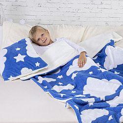Sada povlaku na polštářek a deky CLOUDY modrá