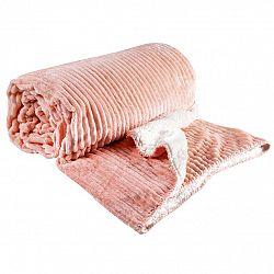 Svitap deka Sleep Well mikrovlákno Ovečka Manžestr lososová 150x200