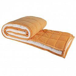 Svitap Prošívaná deka OVEČKA oranžová 150 x 200 cm
