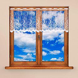 Vitrážková záclona BELA 40 x 300 + 60 x 300 cm