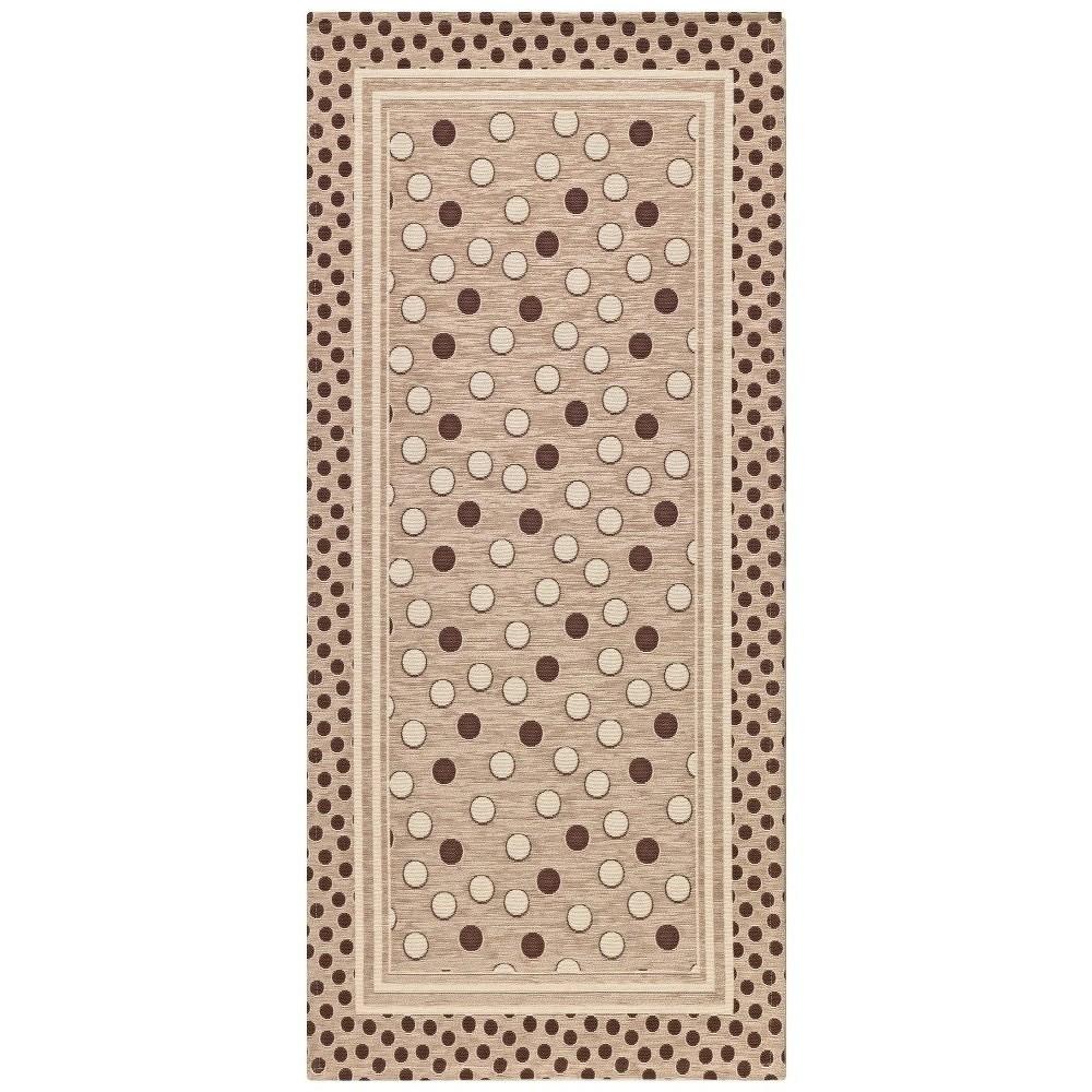 Béžový vysoce odolný kuchyňský koberec Webtappeti Sphere Tortora,55x190cm