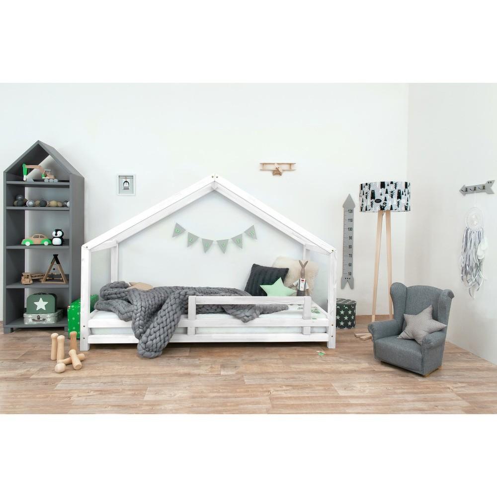 Bílá dětská postel z lakovaného smrkového dřeva Benlemi Sidy, 120 x 200 cm