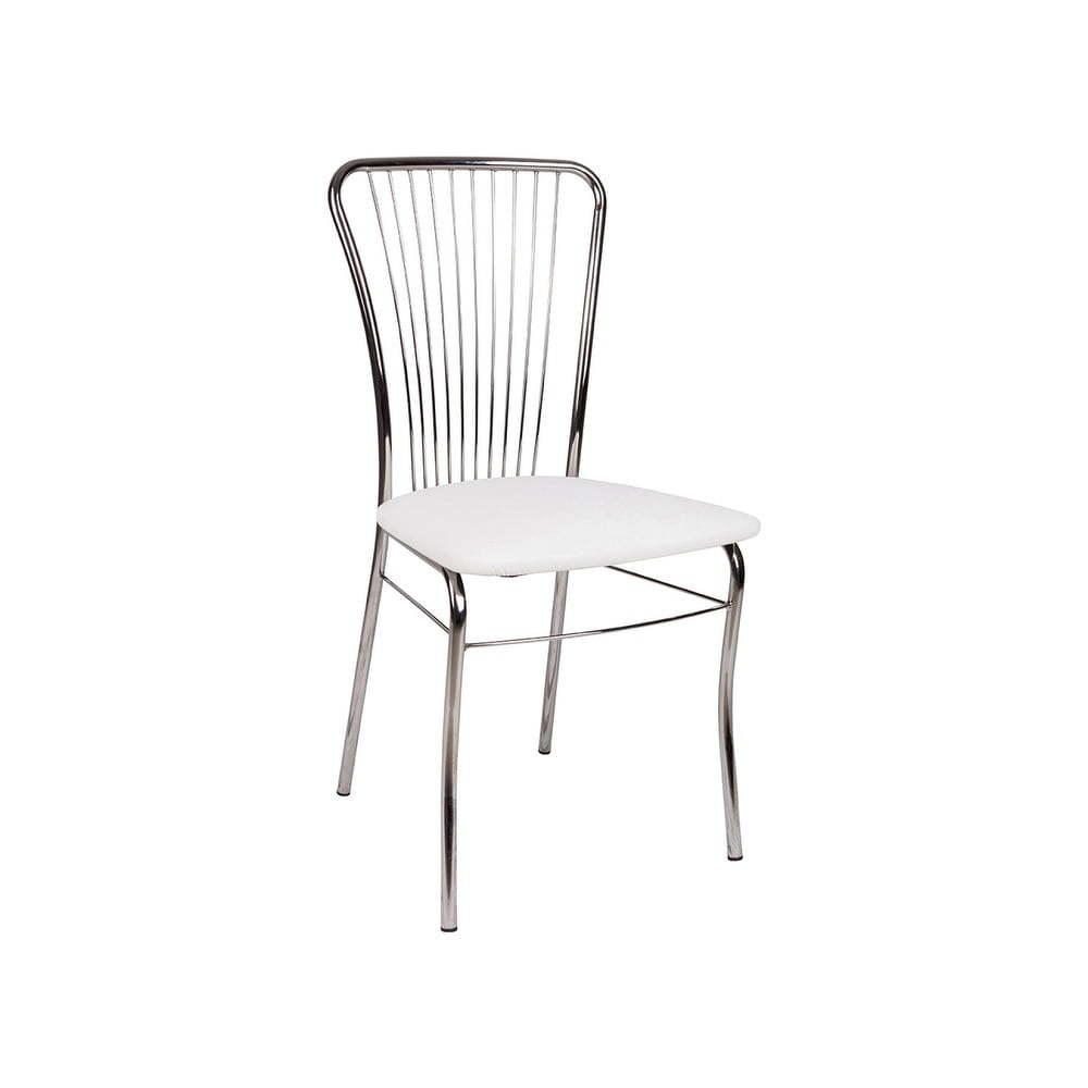 Bílá jídelní židle s potahem z eko kůže Evergreen House Dinner