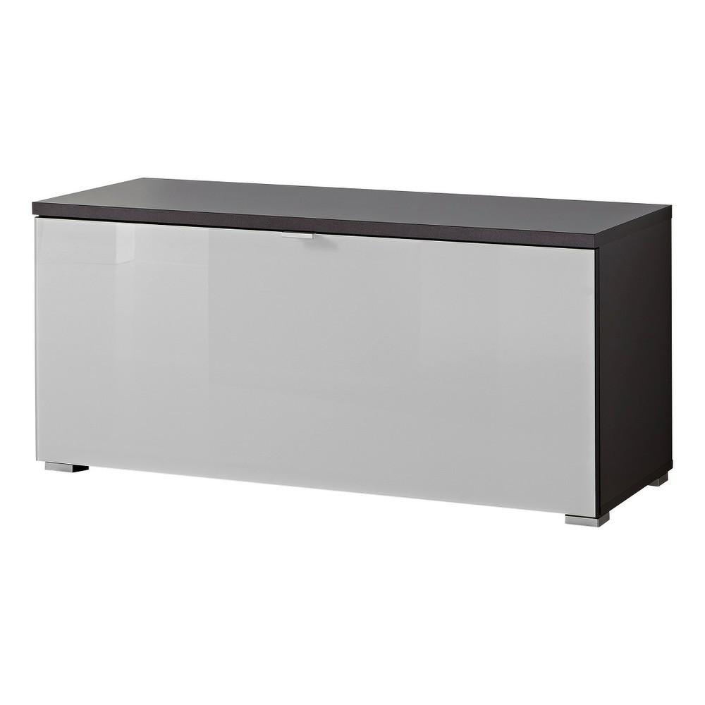 Bílá lavice s antracitově šedými detaily Germania Alameda
