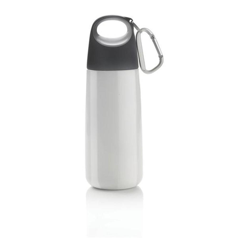 Bílo-šedá lahev s karabinkou XD Design Mini Bopp  6f6e2188c0d