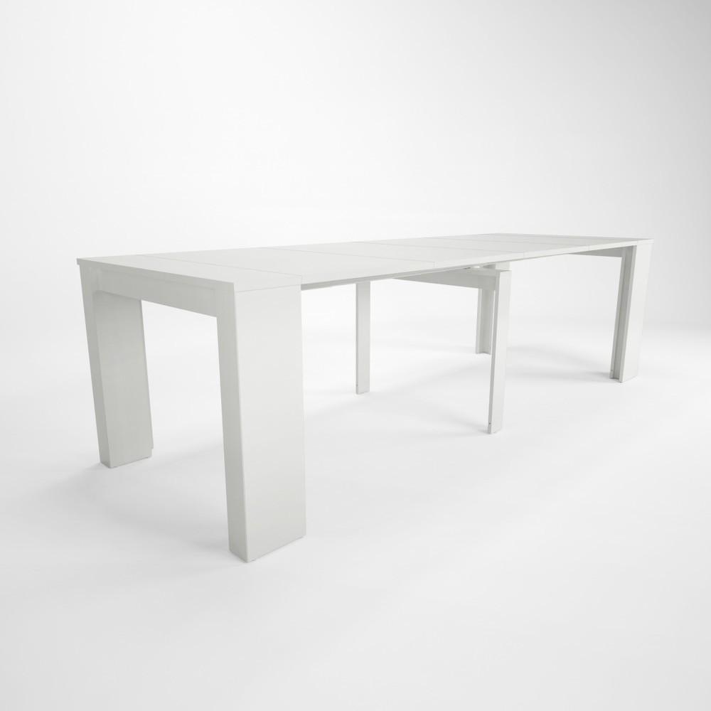 Bílý dřevěný rozkládací jídelní stůl Artemob Willy