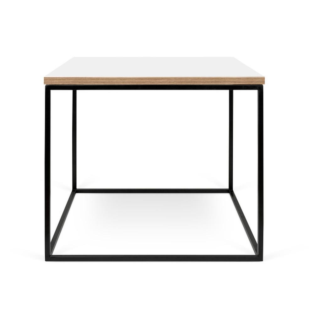 Bílý konferenční stolek s černými nohami TemaHome Gleam, 50 cm