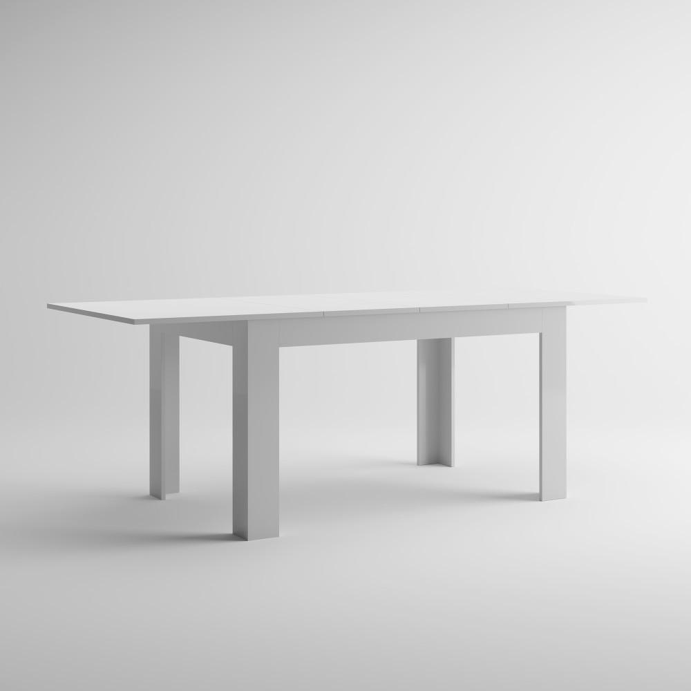 Bílý rozkládací jídelní stůl MobiliFiver Easy, délka140-220cm