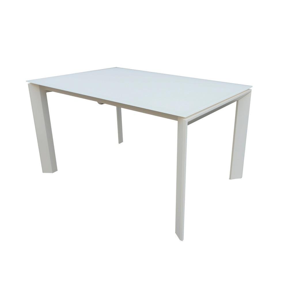Bílý rozkládací jídelní stůl sømcasa Nicola, 140x90cm