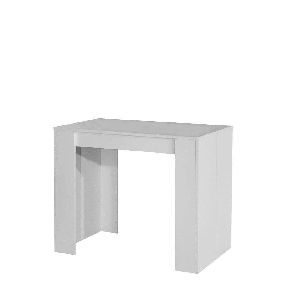 Bílý rozkládací jídelní stůl Symbiosis Elastic
