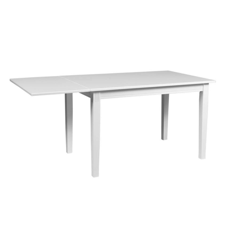 Bílý sklápěcí stůl z dubového dřeva Folke Wittskar, délka 120-165cm
