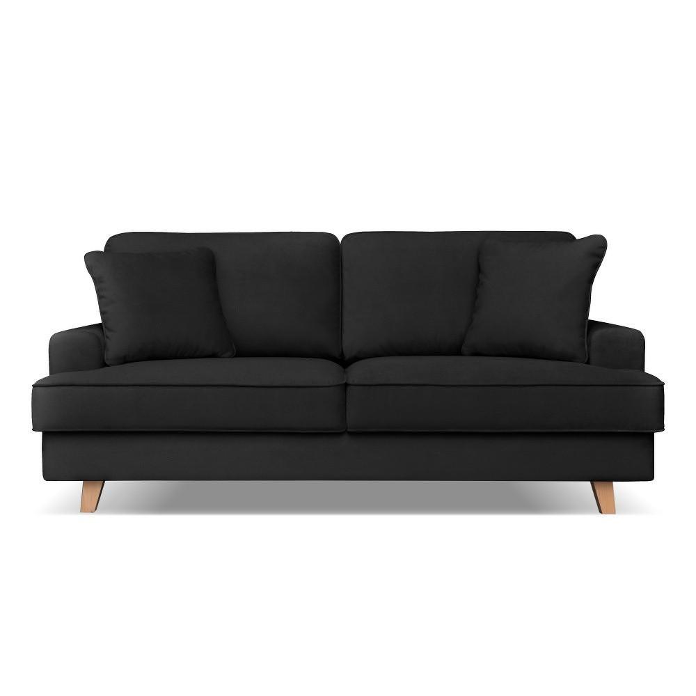 Černá pohovka pro tři Cosmopolitan design Madrid