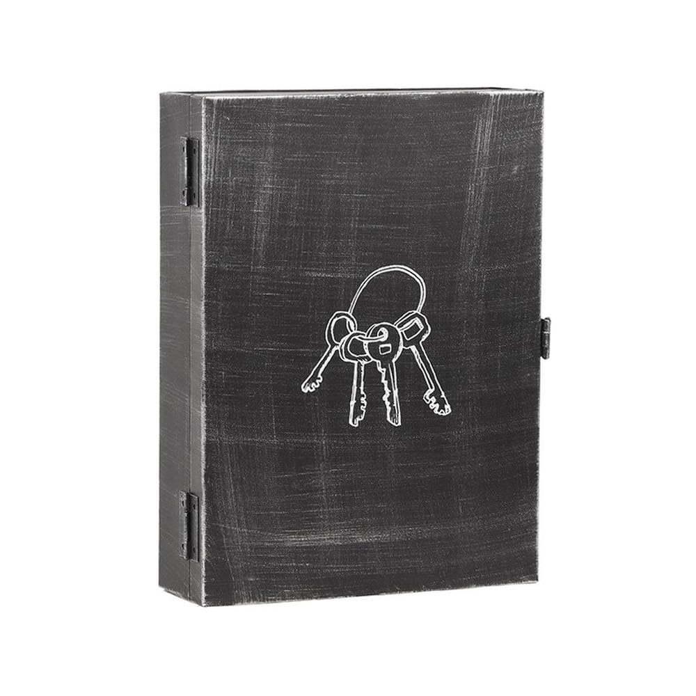 Černý kovový úložný box na klíče LABEL51