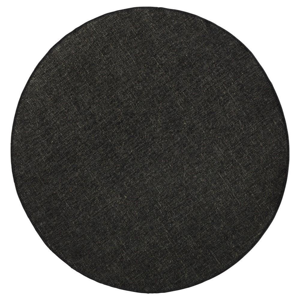 Černý oboustranný koberec Bougari Miami,  Ø 140 cm