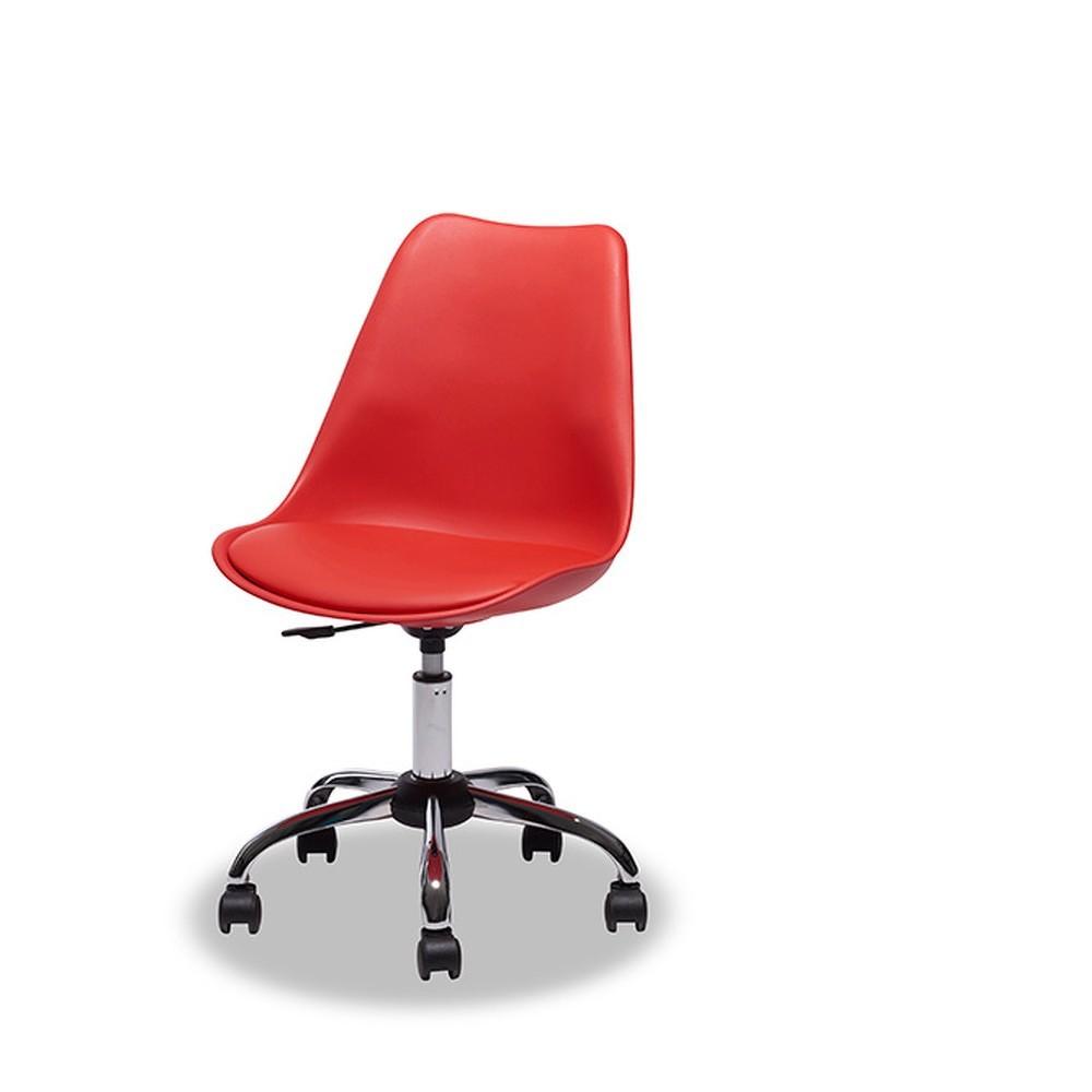 Červená kancelářská židle Knuds Fox