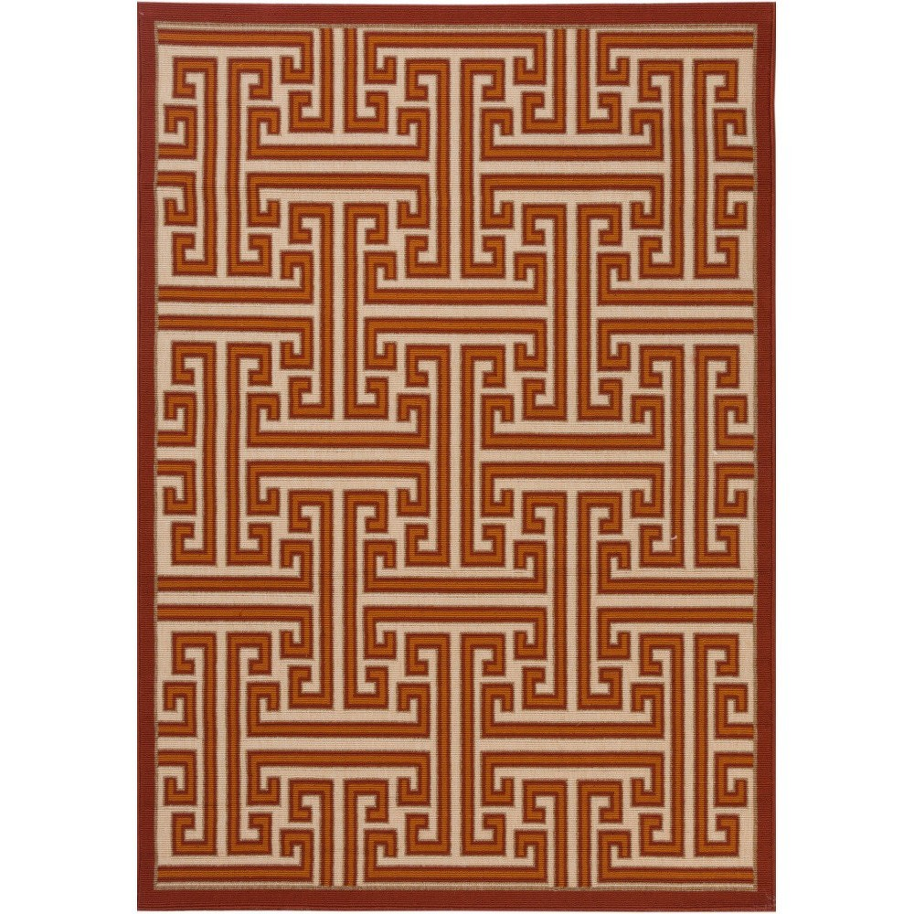 Červený koberec vhodný do exteriéru Verandal, 170 x 120 cm
