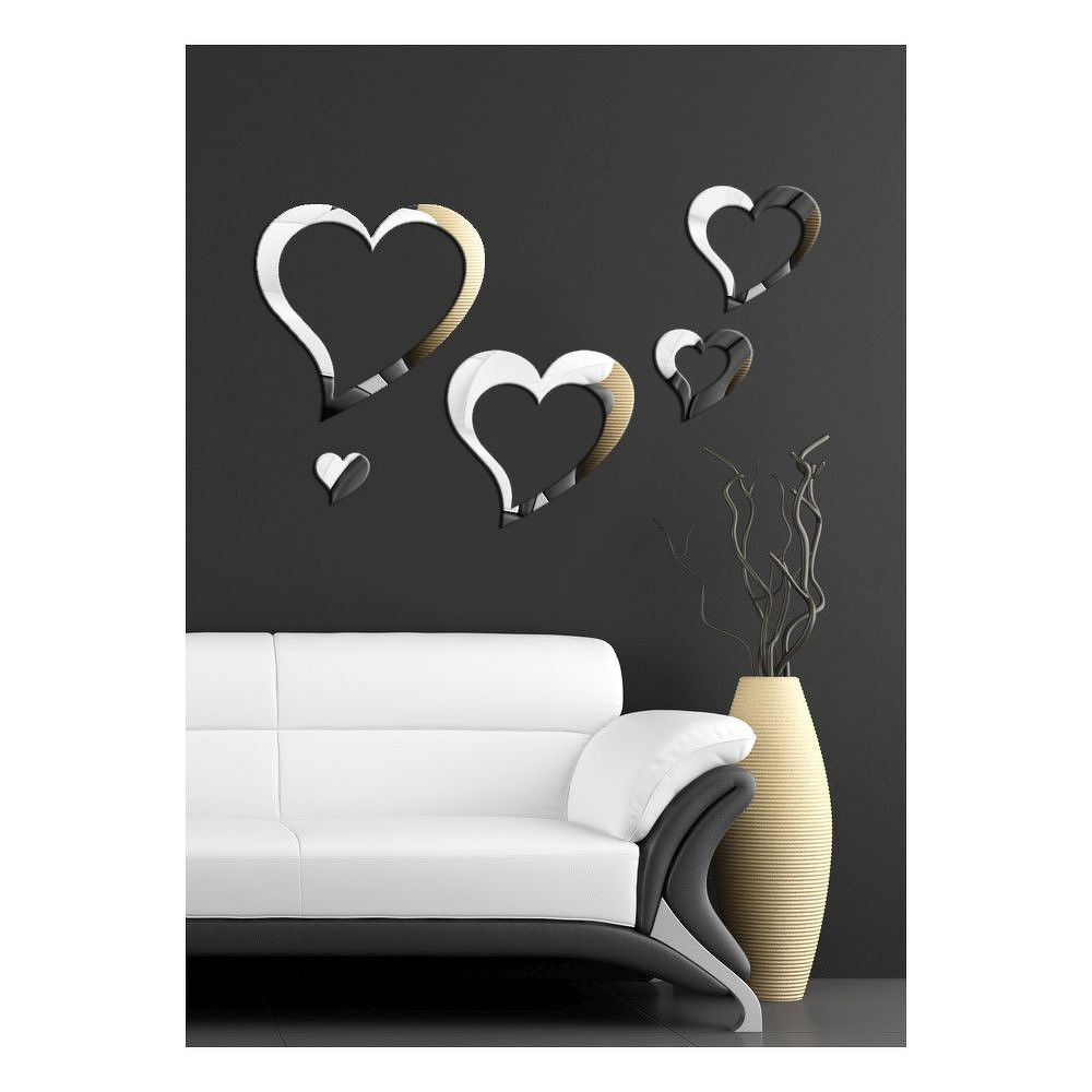 Dekorativní zrcadlo Love You, 75x45 cm