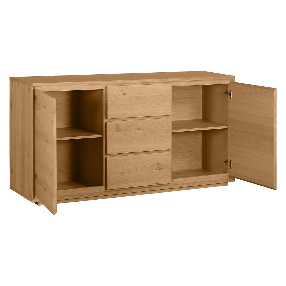 Dřevěná komoda s 3 šuplíky Artemob Stockholm