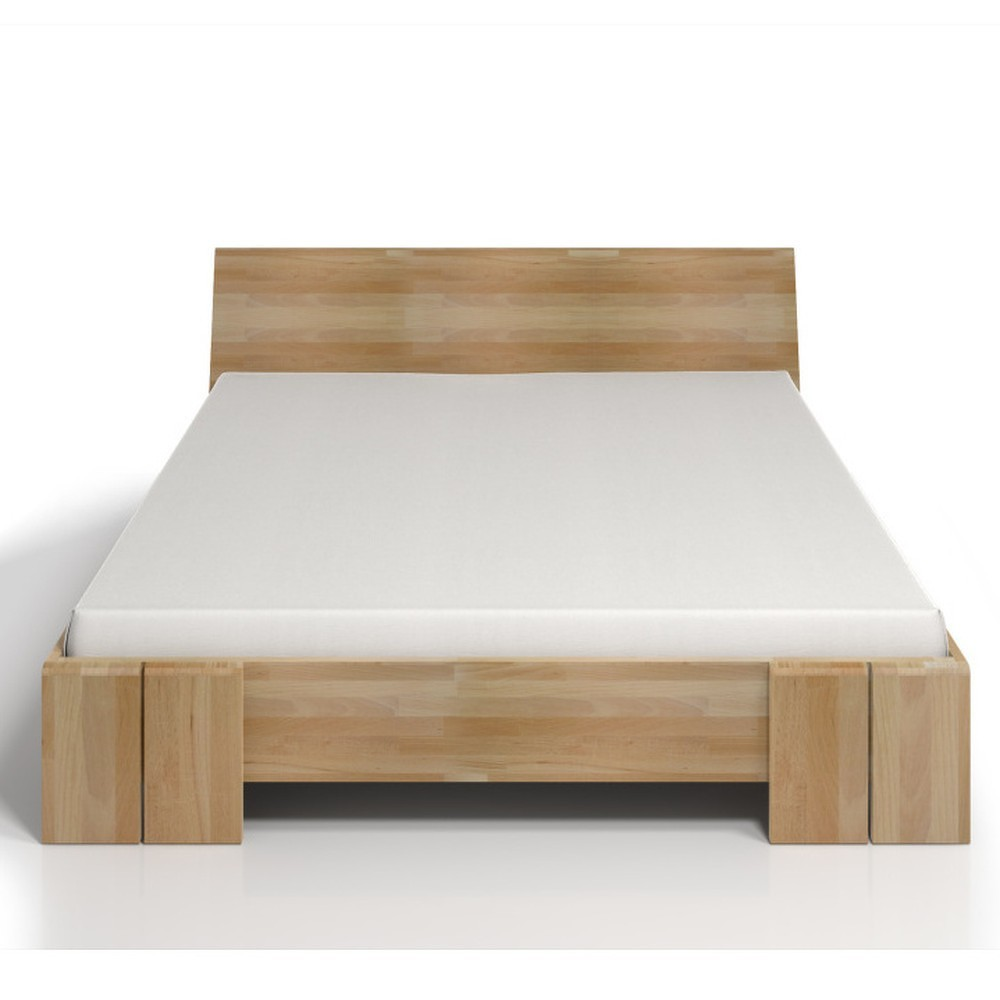 Dvoulůžková postel z bukového dřeva s úložným prostorem SKANDICA Vestre Maxi, 200x200cm
