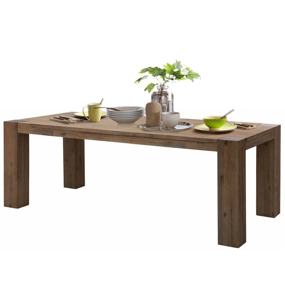 Jídelní stůl z akáciového dřeva Støraa Mabel, 90x180cm