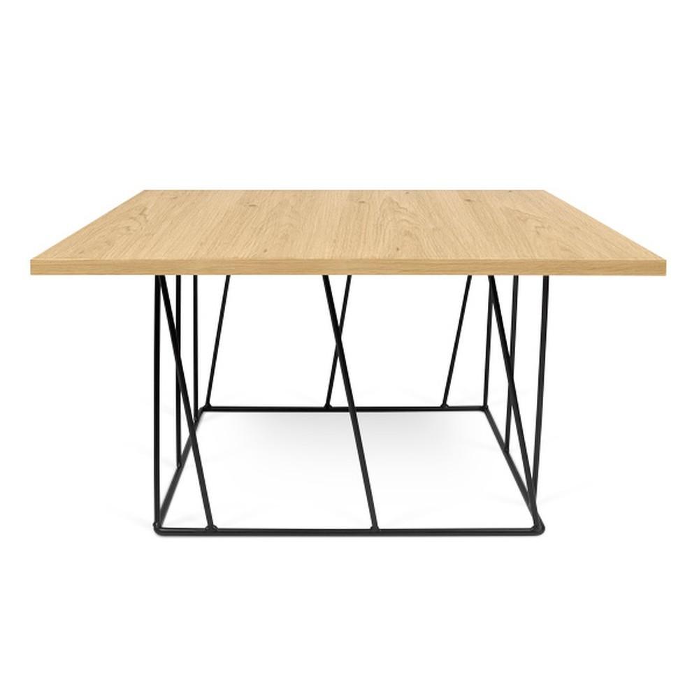 Konferenční stolek s černými nohami TemaHome Helix, 75 cm