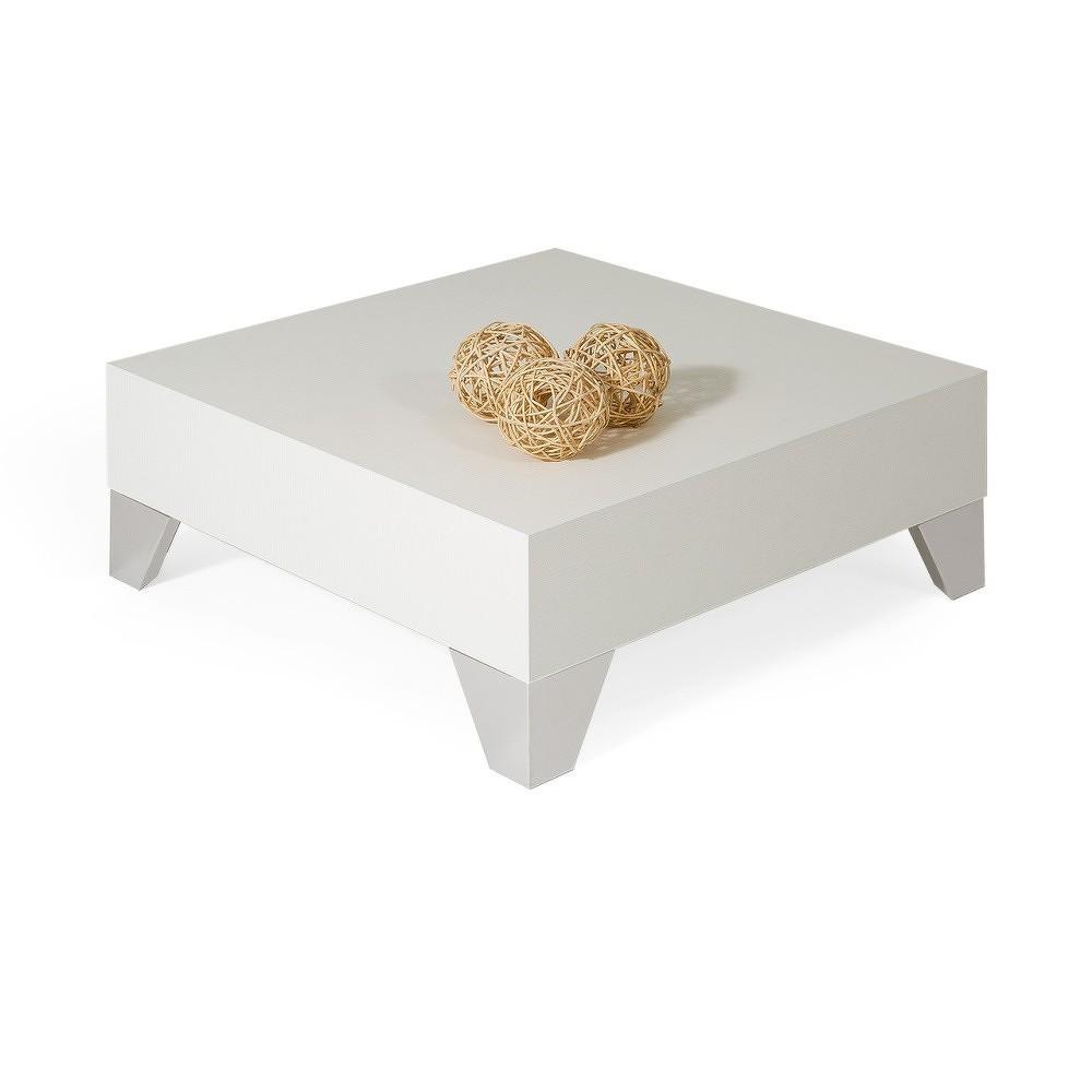 Konferenční stolek v dekoru bílé borovice MobiliFiver Evolution, 60x60cm