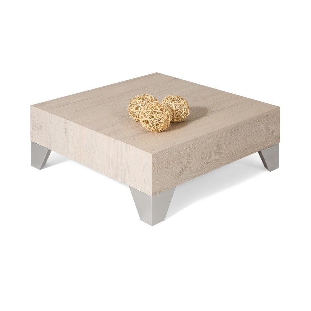 Konferenční stolek v dekoru krémového dubu MobiliFiver Evolution, 60x60cm