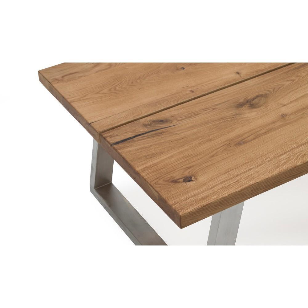 Konferenční stolek z kovu a dubového dřeva VIDA Living Trier, délka 1,3 m