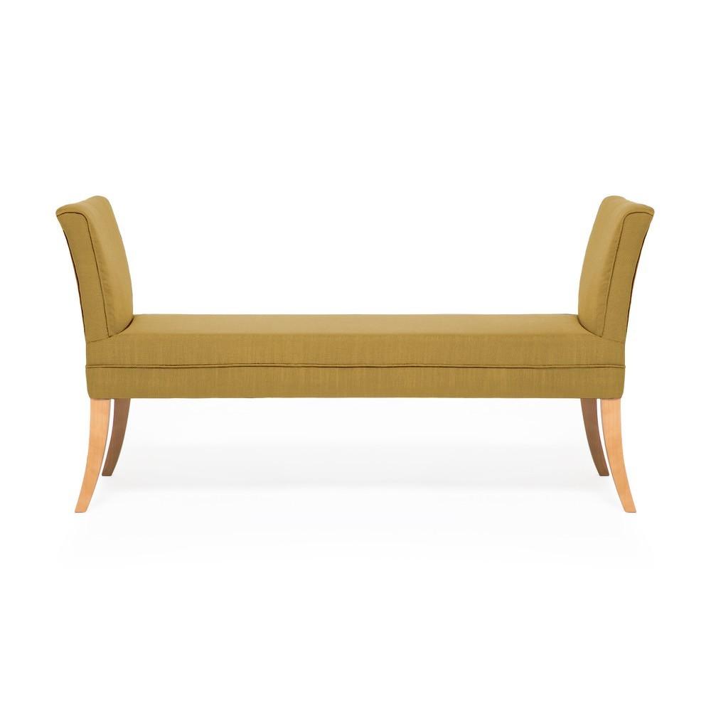 Kukuřičně žlutá lavice Vivonita Selma Linen, 130x67cm