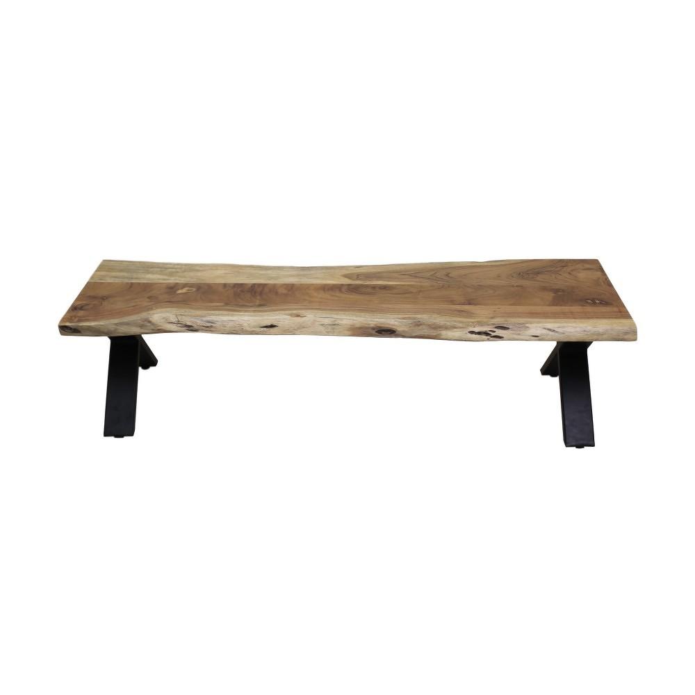 Lavice z akáciového dřeva HSM collection Soho, 160 cm