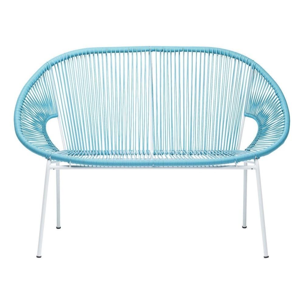 Modrá lavice Kare Design Spaghetti
