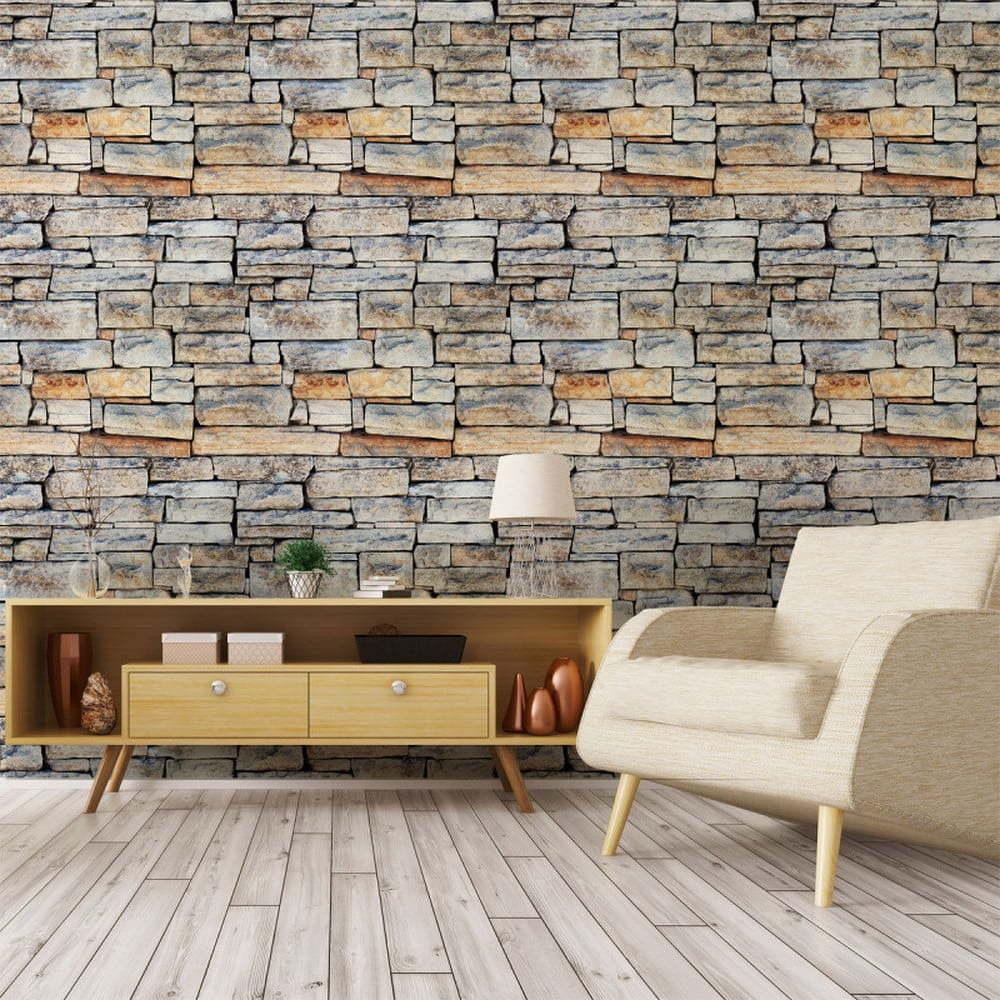 Nástěnná samolepka Ambiance Wall Decal Materials Stones of Carthage, 40 x 40 cm