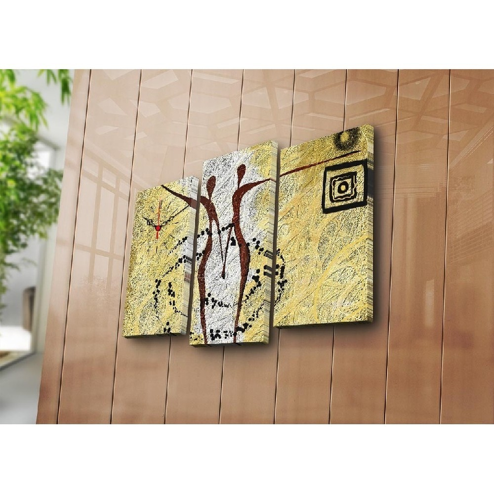 Nástěnné obrazové hodiny Afrika, 66x45 cm