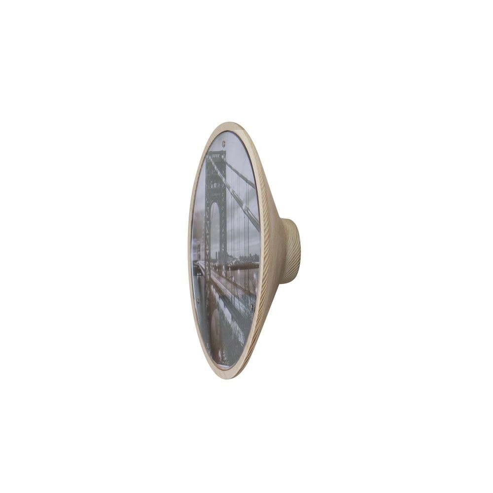 Nástěnný věšák s magnetickým fotorámečkem Furniteam Memories, ⌀ 20 cm