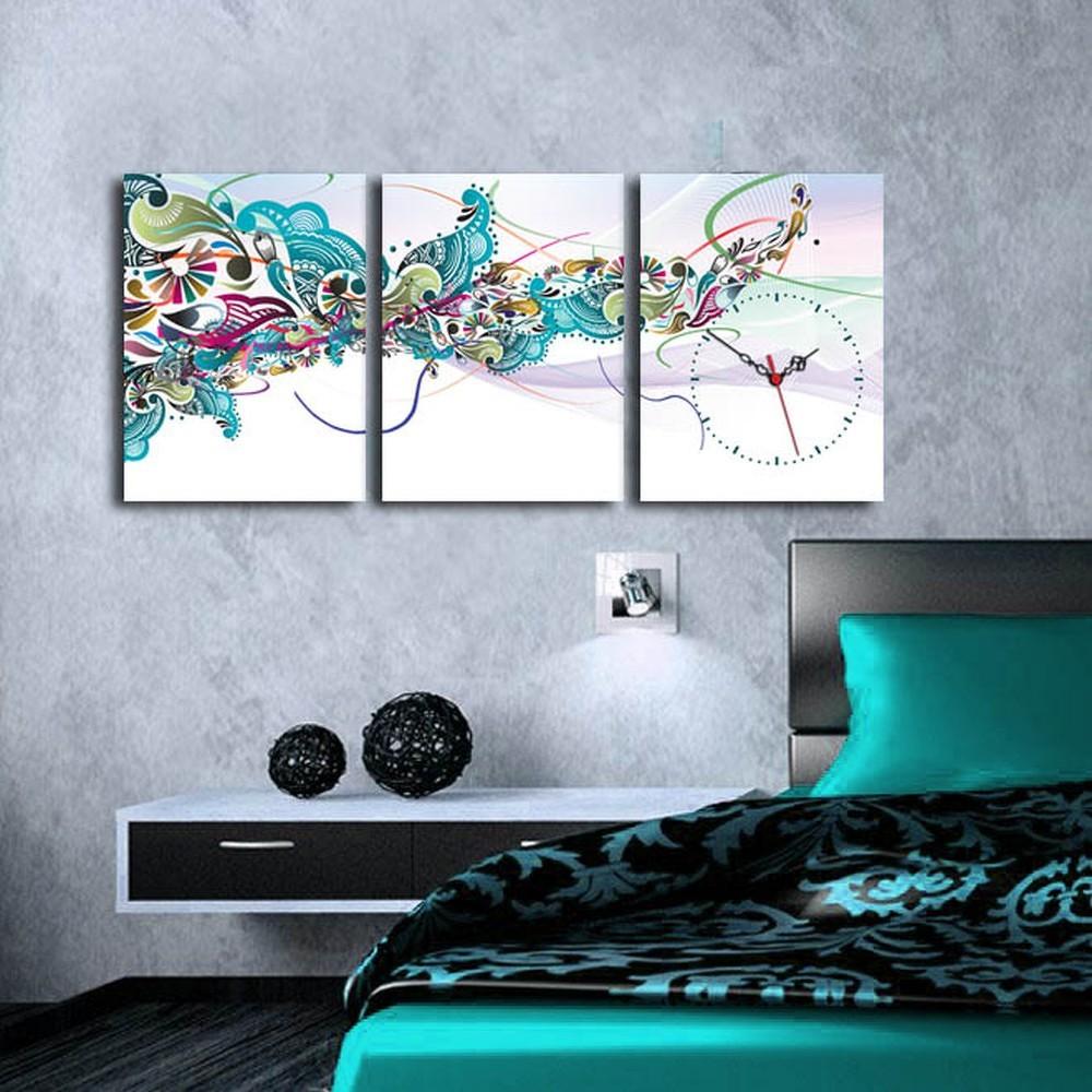 Obrazové hodiny Abstrakt, 96x40 cm