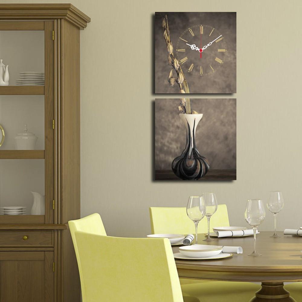 Obrazové hodiny Kompozice s vázou, 60x28 cm