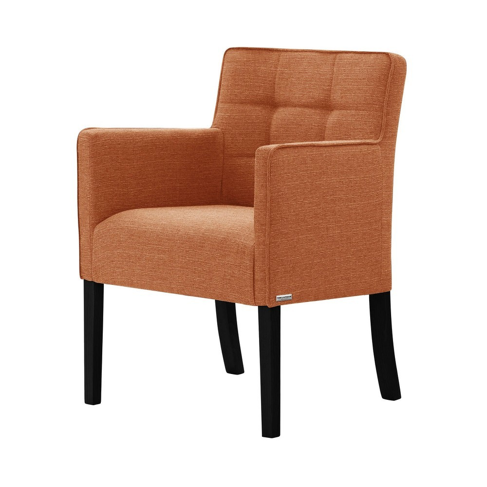 Oranžová židle s černými nohami Ted Lapidus Maison Freesia