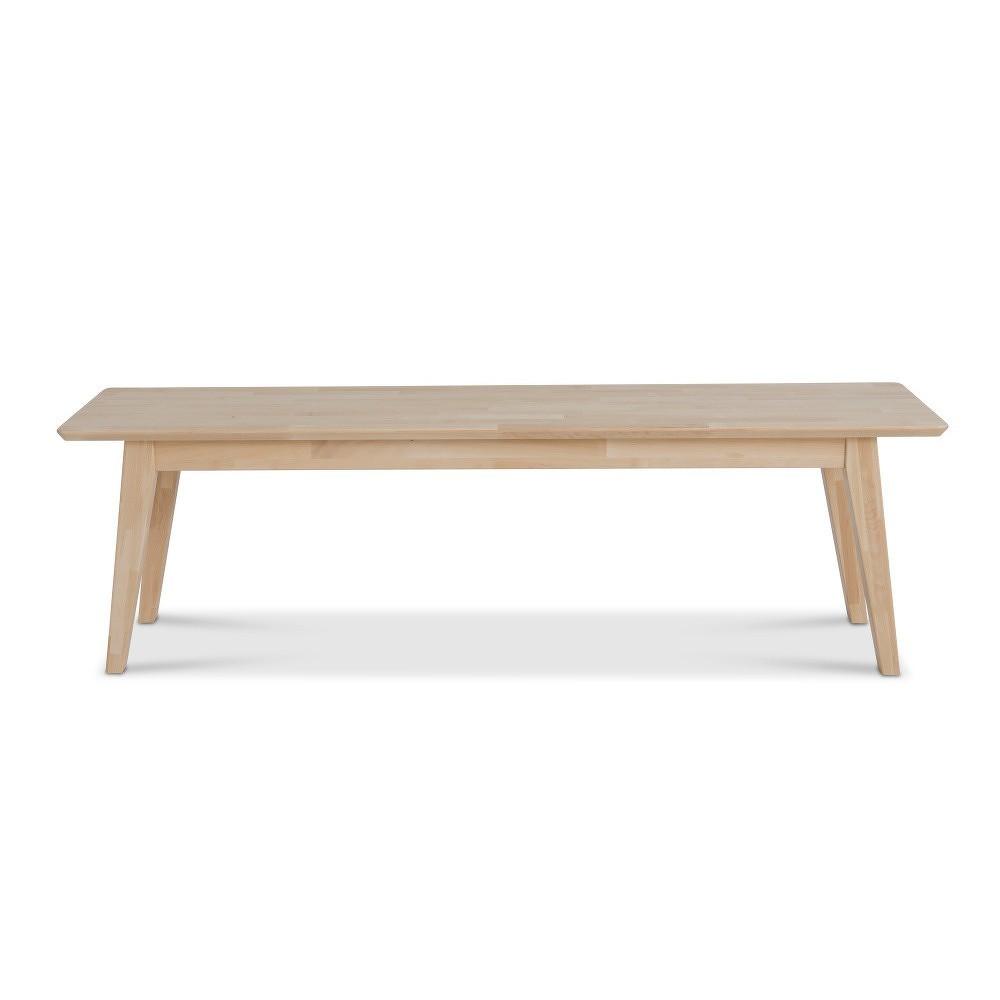 Ručně vyráběná lavice z masivního březového dřeva Kiteen Notte, 46x130cm