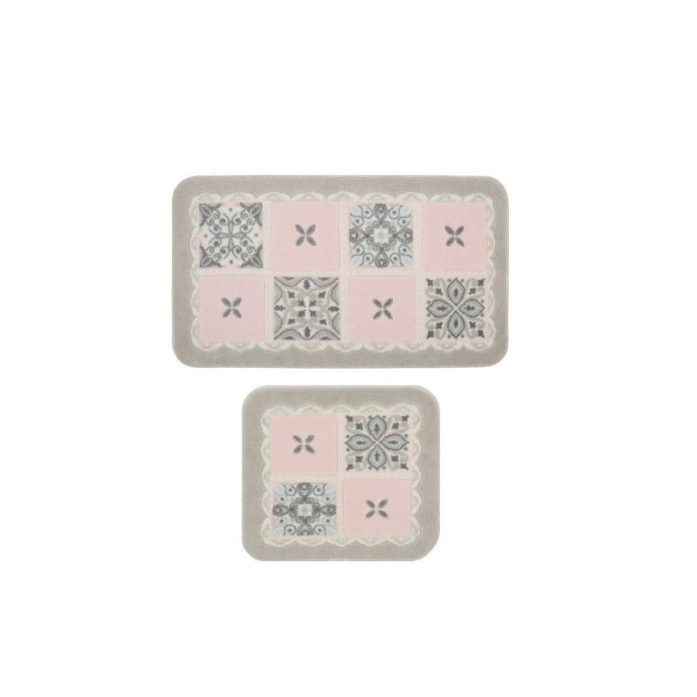 Sada 2 koupelnových předložek Confetti Bathmats Ceramic Pink