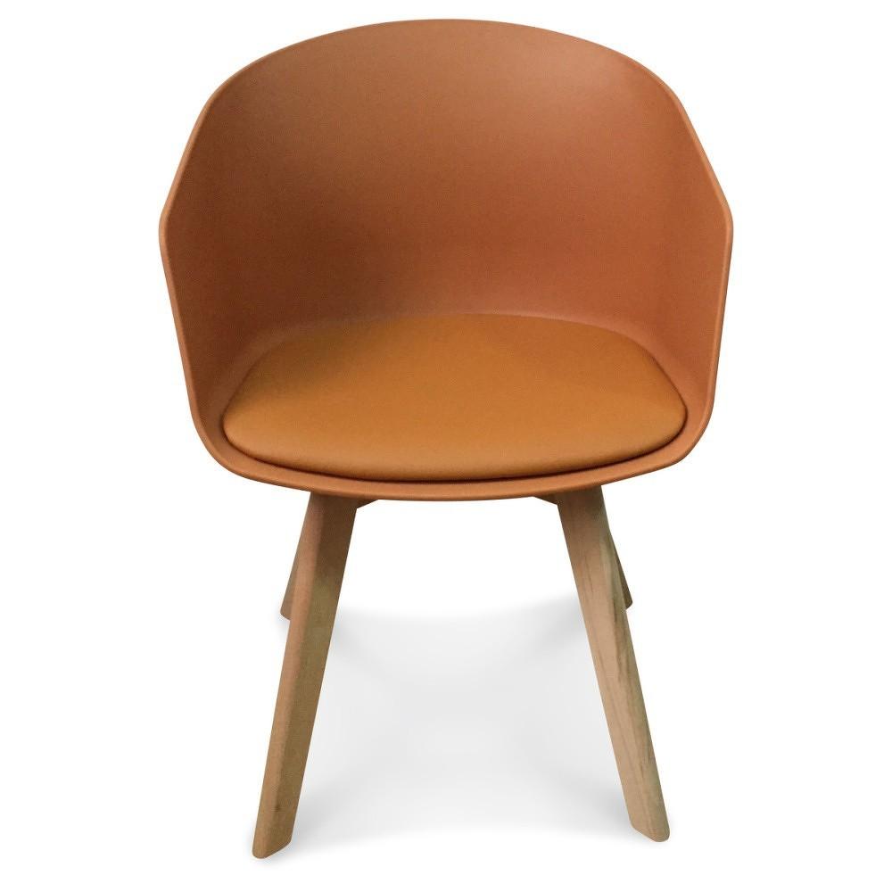 Sada 2 oranžových židlí Opjet Paris Scandinave