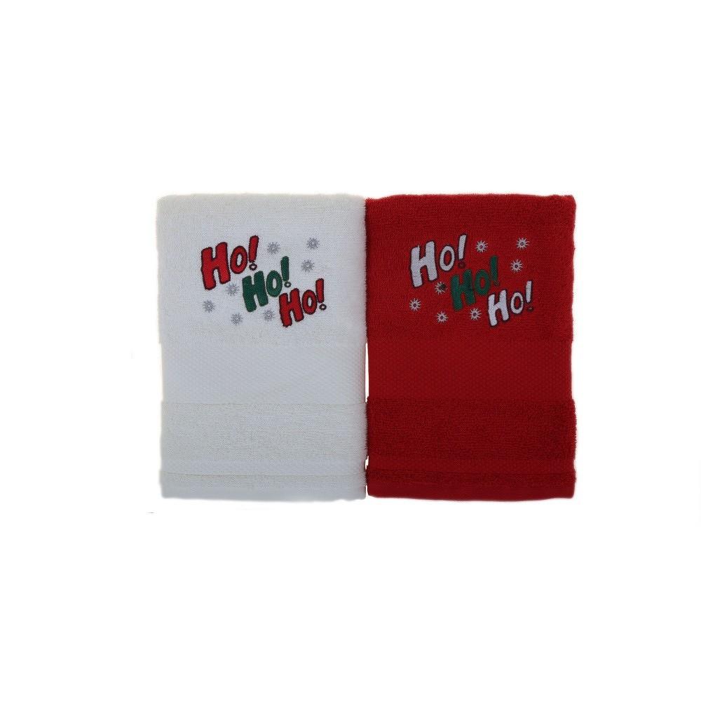 Sada 2 ručníků Ho Ho Red&White, 50x100cm