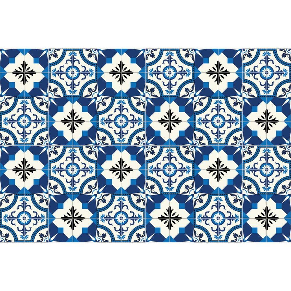 Sada 24 nástěnných samolepek Ambiance Wall Stickers Tiles Zina, 10 x 10 cm