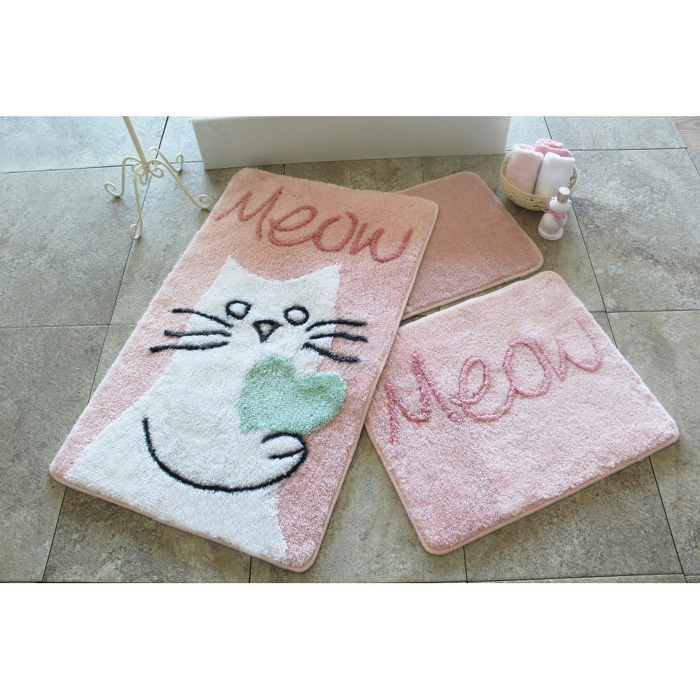 Sada 3 koupelnových předložek Alessia Kedicik Pink