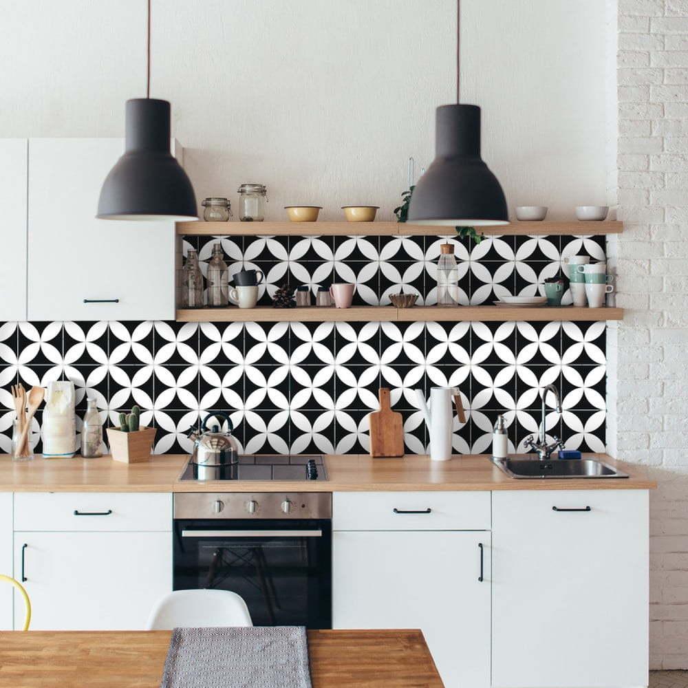 Sada 9 nástěnných samolepek Ambiance Wall Decal Tiles Enzo, 15 x 15 cm