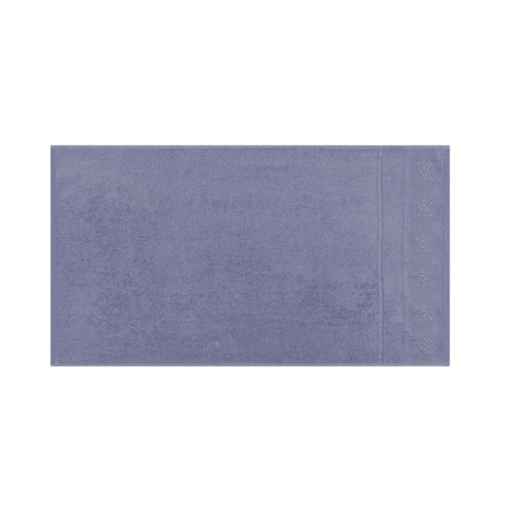 Sada dvou fialových ručníků Baroque, 90x50cm