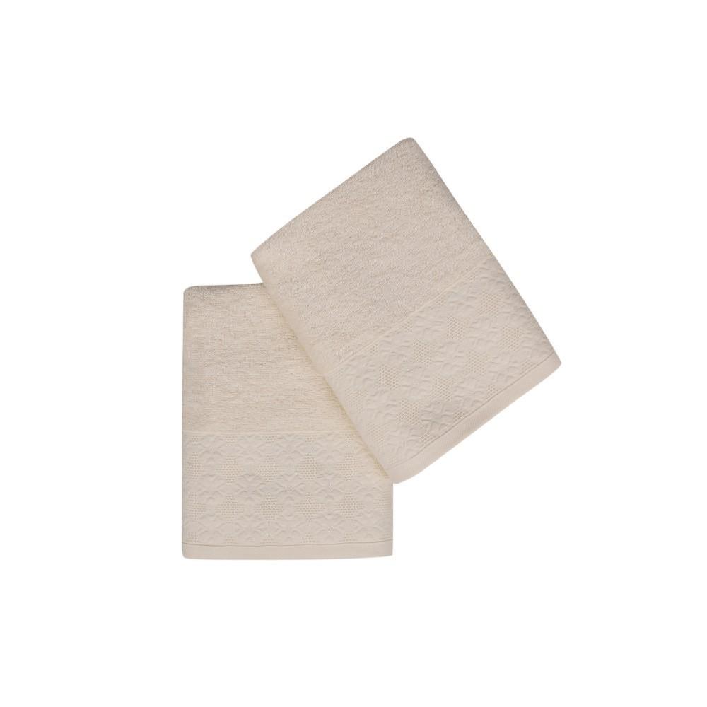 Sada dvou ručníků v krémové barvě Provence, 90x50cm